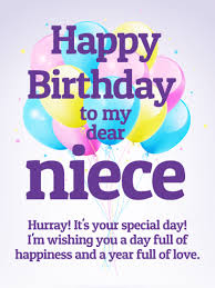 it u0027s your special day happy birthday wishes card for niece