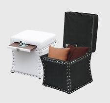 living room faux leather modern storage ottomans ebay