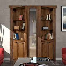 Wood Bookcase With Doors Murphy Door Store Door Bookshelves Hardware More