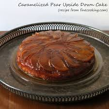 and dessert was caramelized pear upside down cake loulou downtown
