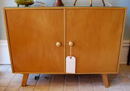 Mid Century Record Cabinet by Blue Elephant Mid Century Record Cabinet Sold