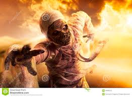 halloween lightning background scary mummy in a desert at sunset stock photo image 40363212