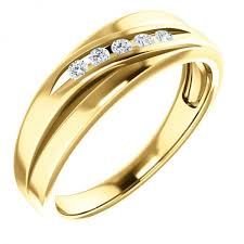 14k gold mens wedding band mens channel set diamond wedding band in 14k yellow gold mens