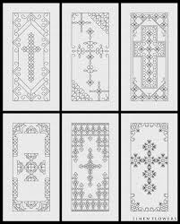 blackwork crosses 2 would make pretty bookmarks вышивка