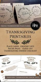 printable thanksgiving dinner checklist and recipes free thanksgiving printables thanksgiving place cards