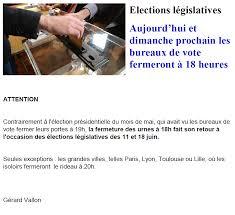 heure de fermeture des bureaux de vote législatives les bureaux de vote ferment à 18 heures noz infos