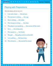 playing with prepositions u2013 free grammar worksheet on prepositions