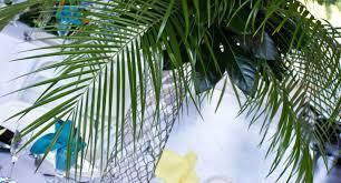 palm tree centerpiece decoration custom centerpieces party theme
