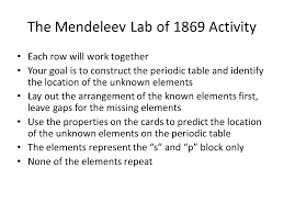 introduction to periodic table lab activity worksheet answer key history of the periodic table ppt download