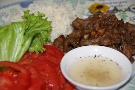 cuisine asiatique boeuf boeuf mariné lok lak cuisine khmer la cuisine de dominique