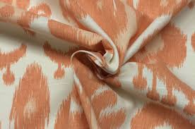 ballard designs tahiti apricot orange ikat designer fabric by the
