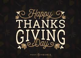 happy thanksgiving day leaves design vector