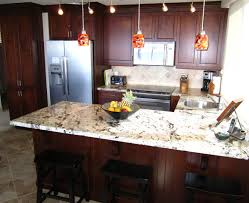 Kitchen Ideas With Cherry Cabinets by Cherry Cabinets With Japurana Delicatus Granite Looks Similar To