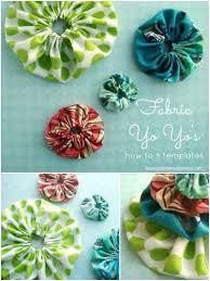 how to make a fabric yo yo