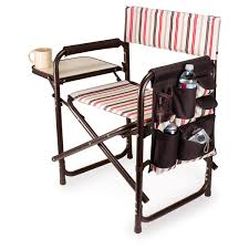 Folding Directors Chair With Side Table Gorgeous Folding Directors Chair With Side Table Picnic Time
