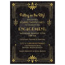 engagement party invites roaring 20s engagement party invitation black gold deco