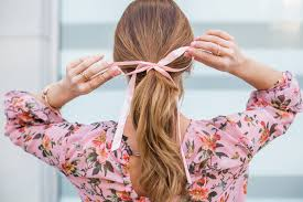 hair ribbon three tips for wearing the hair ribbon ponytail trend beauty