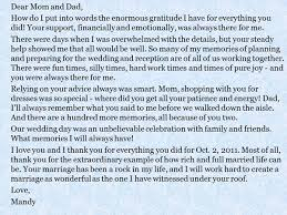 a message from the and groom to their parents everafterguide