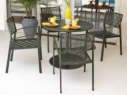 Wrought Iron Kitchen Tables by Furniture Black Iron Outdoor Round Table With Four Chair Placed