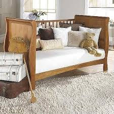 Sleigh Cot Bed Izziwotnot Bailey Sleigh Cot Bed Oak Linens Limited