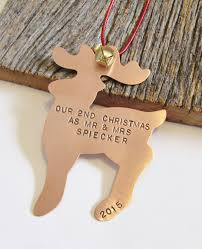 Christmas Ornament Wedding Gift Our Second Year Gift 2nd Anniversary Engagement Ornament Our