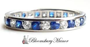 3mm diamond co 3mm sapphire diamond eternity celebration ring