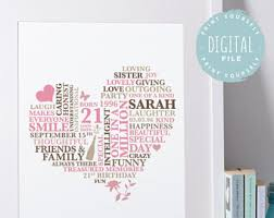 18th birthday gift birthday print heart personalised