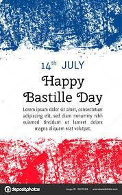 French Flag Banner Vector Illustration Bastille Day French Flag In Trendy Grunge