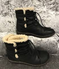 ugg womens caspia ankle boots womens ugg australia caspia 1932 black leather ankle winter boot