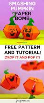 Smashing Pumpkins Halloween - smashing pumpkin paper bomb tutorial paper toys papercraft and