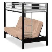 Samba FullFull Futon Bunkbed Matte Black Value City Furniture - Full futon bunk bed