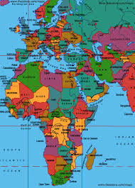 africa e asia mappa map of europe and africa with countries major tourist