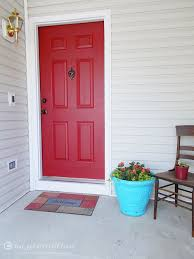 how to paint your front door love pomegranate house