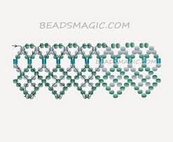 necklace beaded pattern images Knitting and beading wedding bridal accessories and free pattern jpg