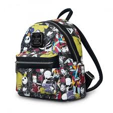 nightmare before print faux leather mini backpack