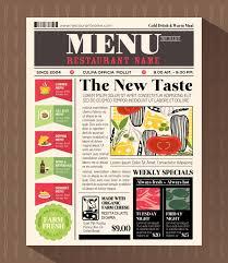 menu design template ready to print wedding menu template for