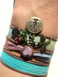 Unique Dragonfly Gifts Silk Wrap Bracelet Dragonfly Bracelet Gifts For Her Wrap