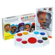 amazon com snazaroo 8 color sparkle face paint pallet toys u0026 games