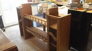 hutch top repurposed into dining room storage buffet hometalk