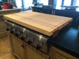 butcher blocks artt wood manufacturing cooktop cover maple