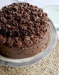 double chocolate cake with peanut butter chocolate frosting u2014