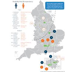 Hull England Map by Disability Free Life Expectancy By Upper Tier Local Authority