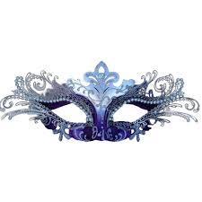 purple and silver decorative metal venetian mask
