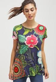desigual designer desigual emilio print t shirt navy t shirts desigual outlet