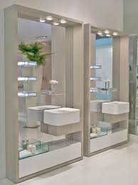 Mirrored Wall Panels Wall Mount Glass Storage Shelves Mixing Double Floating Bath Sinks