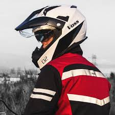 Meaa by Amazon Com Voss 601 D2 Dual Sport Helmet With Integrated Sun Lens