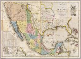 Mexico Map 1821 by Mexican American War U2013 Book Of Days Tales