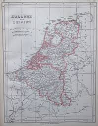 Map Of Holland Map Of Holland And Belgium 1853