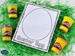 easter plays printable play dough mats for an easter basket