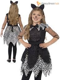 Halloween Costumes Boys Age 9 Girls Deluxe Black Cat Glittery Halloween Costume Kids Child Fancy